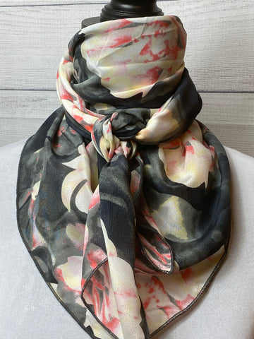 The Kaia Floral Silk Large Rag