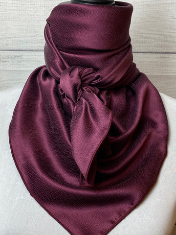 Solid Burgundy Hammered Silk Large Rag