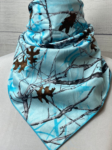 Blue True Timber Conceal Camo Cotton Neckerchief