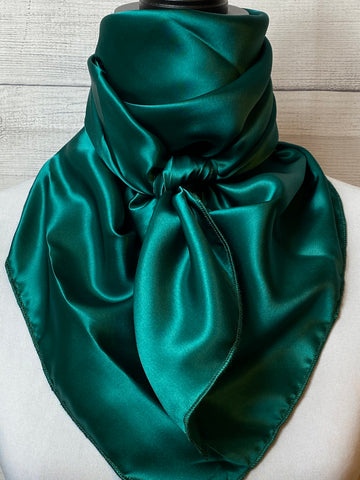 Solid Green Lightweight Silk Large Rag