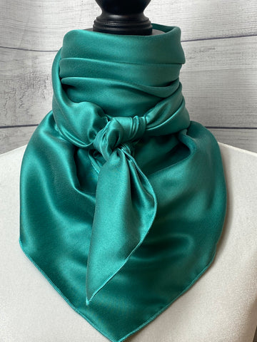 Solid Jade Sandwashed Silk Large Rag