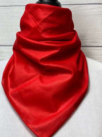 Solid Red Cotton Voile Bandana