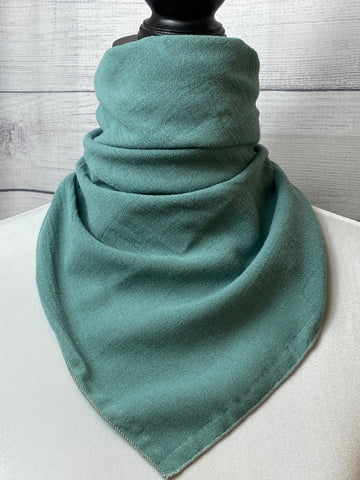 Solid Sage Cotton Gauze Bandana