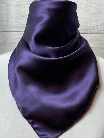 Solid Deep Purple Silk Neckerchief