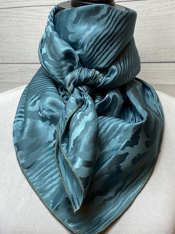 The Steel Blue Silk Jacquard Rag