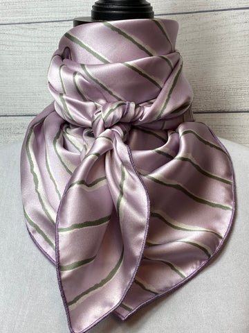 The Lilac Stripe Silk Large Rag