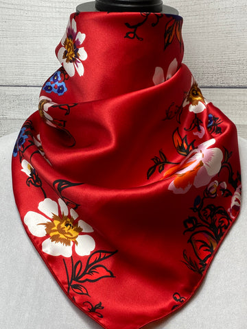 The Rubie Floral Silk Neckerchief