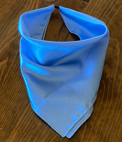 Solid Sky Blue Silk Kerchief