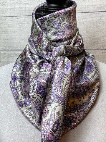 The Almina Paisley Silk Large Rag