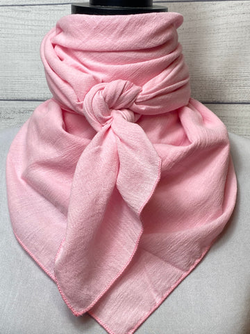 Solid Light Pink Cotton Gauze Rag