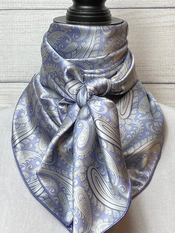 The Periwinkle Paisley Silk Rag