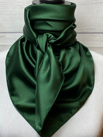 Solid Forest Green Silk Large Rag