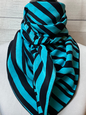 The Turquoise Striped Silk Rag