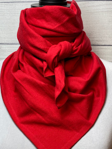 Solid Red Cotton Flannel Rag