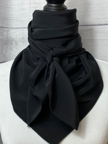 Solid Black Silk Rag