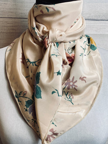 The Emma Floral Silk Large Rag
