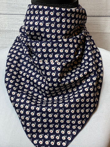 The Mini Floral Cotton Voile Neckerchief