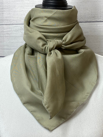 Solid Sage Silk & Cotton Rag
