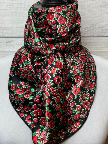 The Holly Floral Silk Rag