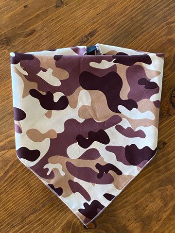Brown Camo Cotton Kerchief