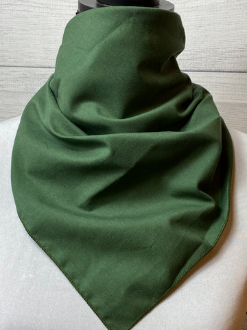 Solid Olive Green Cotton Bandana