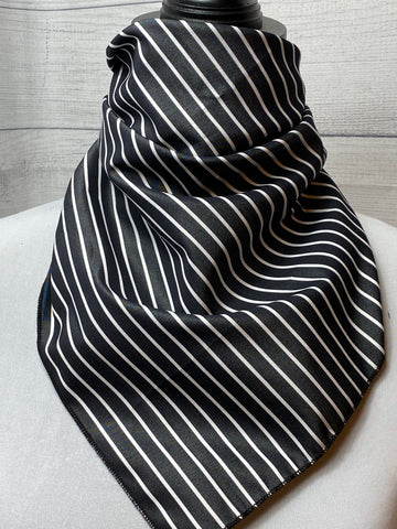 Charleston Striped Cotton Bandana