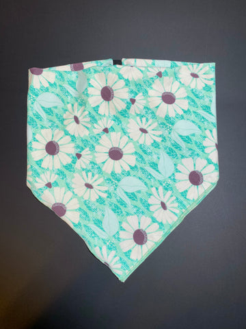 Green Daisy Cotton Kerchief