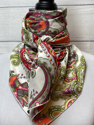 The Maia Paisley Silk Blend Rag