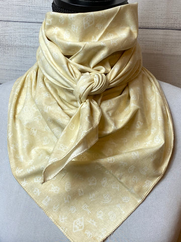 The Khaki Cattle Brands Cotton Bandana