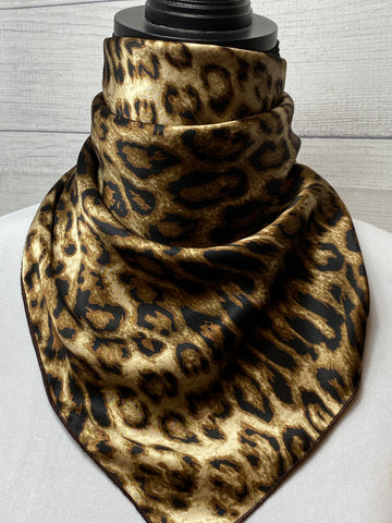 The Lynx Silk Neckerchief