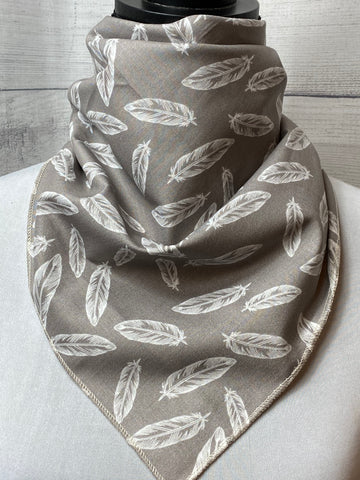 The Grey Feathers Cotton Neckerchief