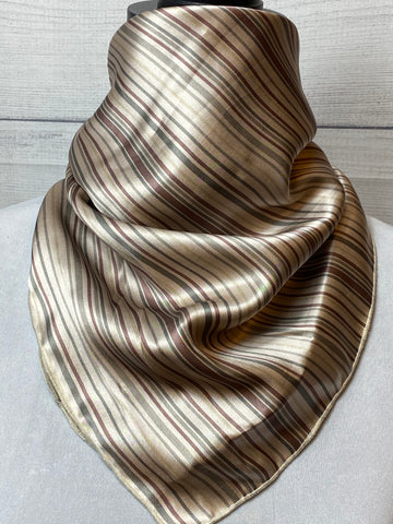 The Sutton Striped Silk Neckerchief