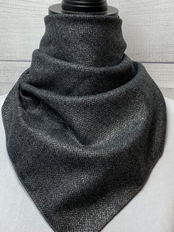 Steel Grey Wool Neckerchief