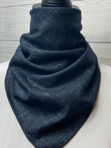 The Windowpane Grey Wool Neckerchief