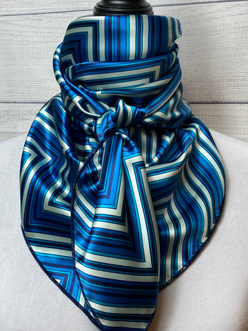The Cobalt Canyon Silk Large Rag