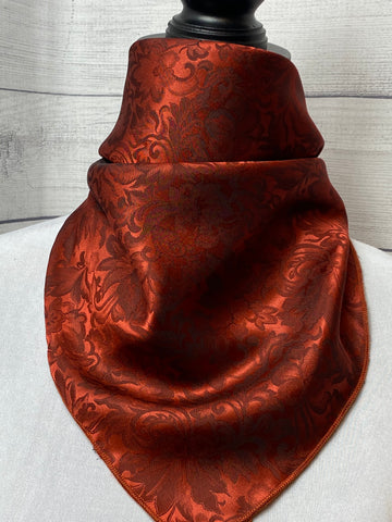 Rust Silk Jacquard Neckerchief