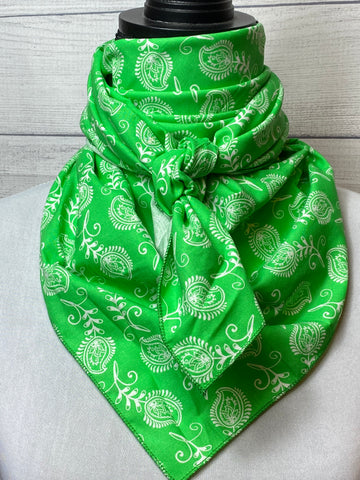 Green Paisley Cotton Rag