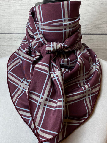 The Plum Plaid Silk Rag