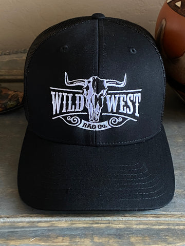 Wild West Black & White Trucker Cap