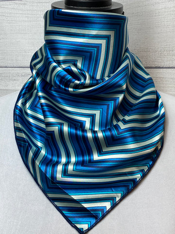 The Cobalt Canyon Silk Neckerchief