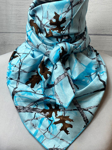 Blue True Timber Conceal Camo Cotton Bandana