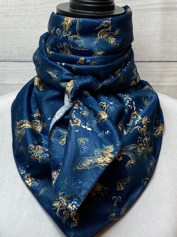 The Navy Paisley Cotton Rag