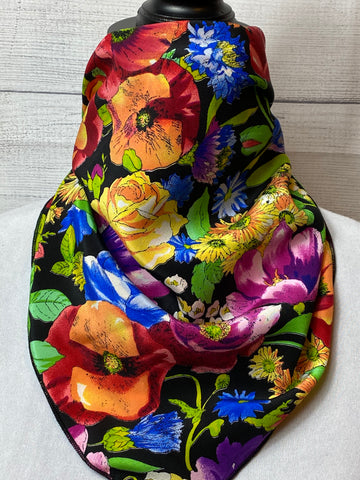 The Eden Floral Silk Neckerchief