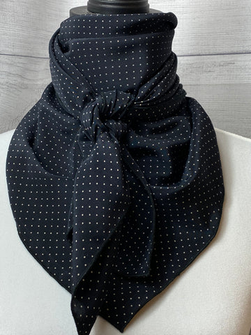 The Black Pin Dot Silk Large Rag