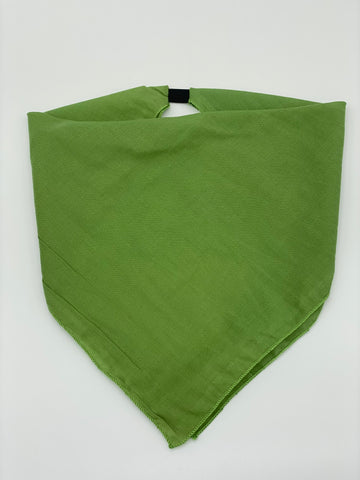 Solid Shamrock Green Cotton Kerchief