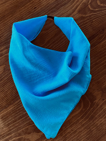 Solid Bright Turquoise Cotton Gauze Kerchief