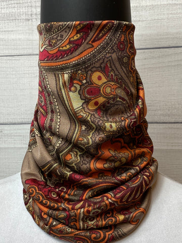 The Weston Paisley Silk Neck Gaiter