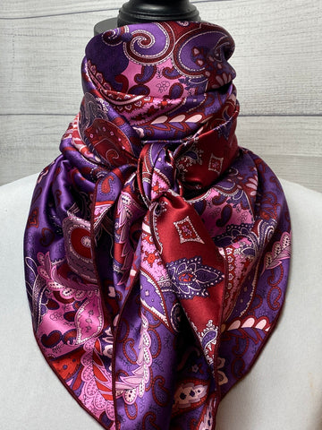 The Mulberry Paisley Silk Rag