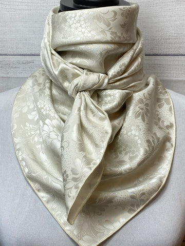 Smoked White Silk Jacquard Large Rag