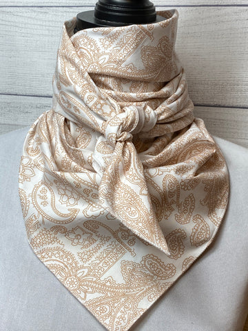 Khaki Paisley Cotton Rag